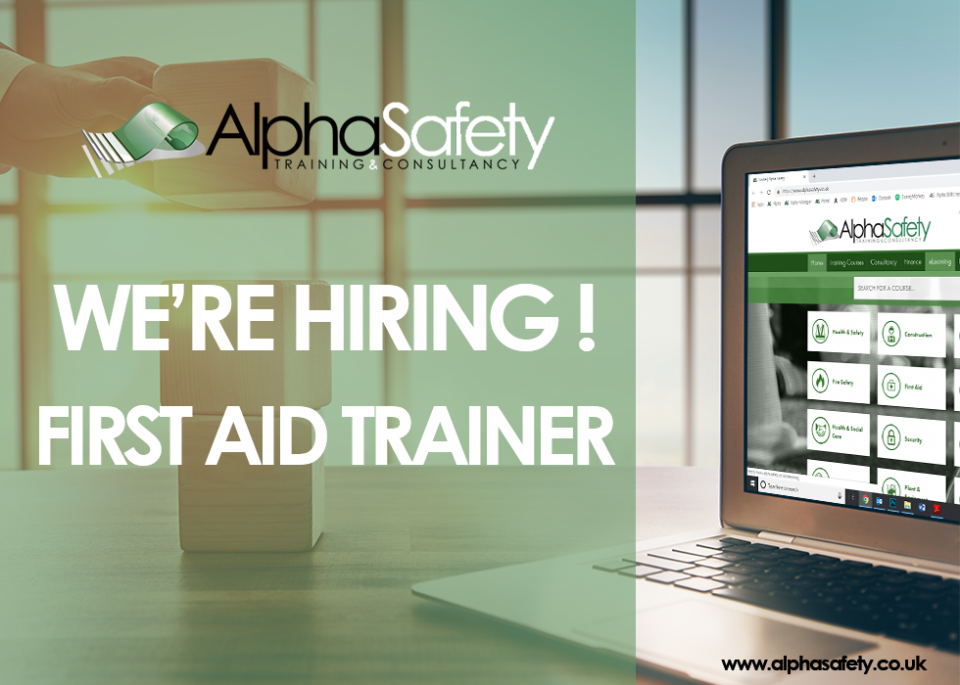Job Vacancy - First Aid Trainer